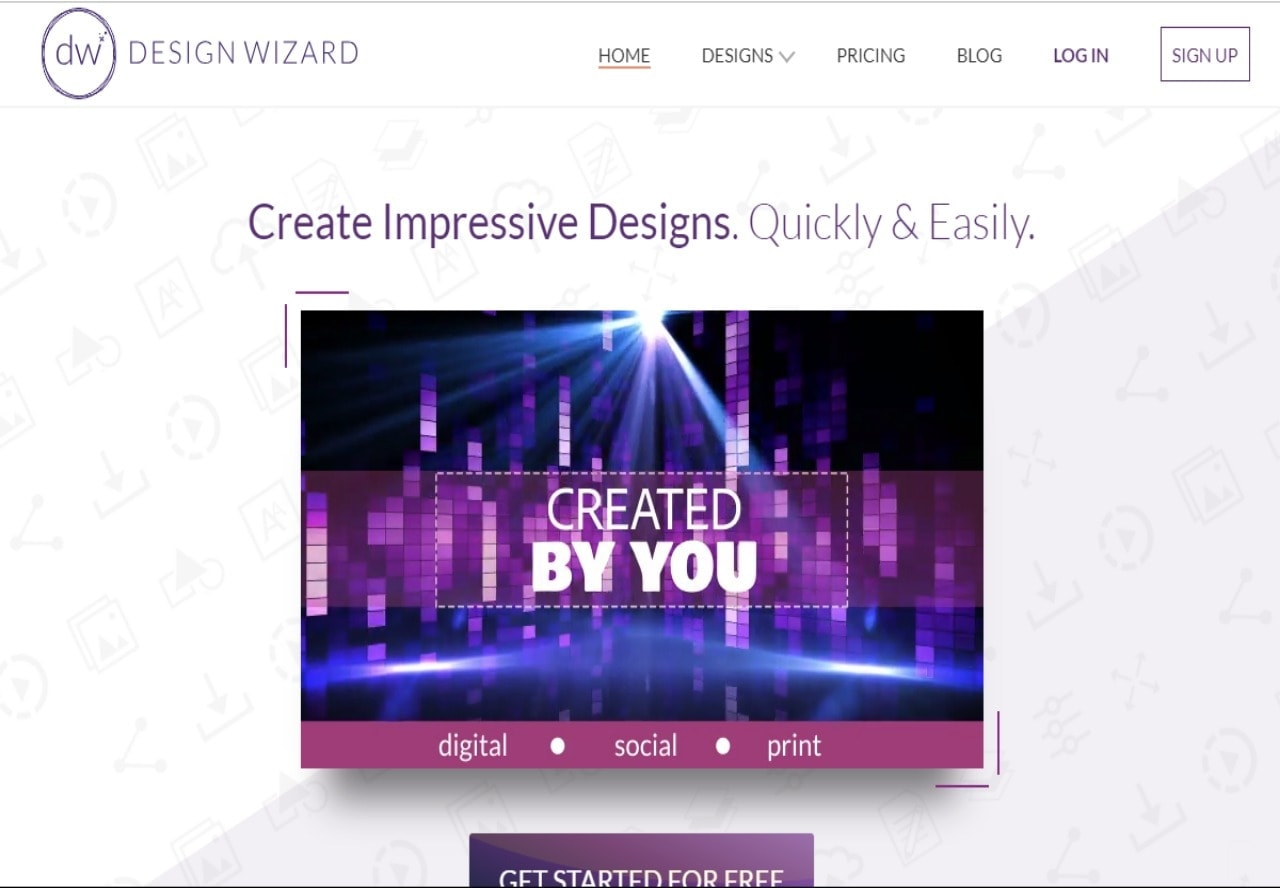 Design Wizard lifetime deal: Simple graphic design app on the cloud