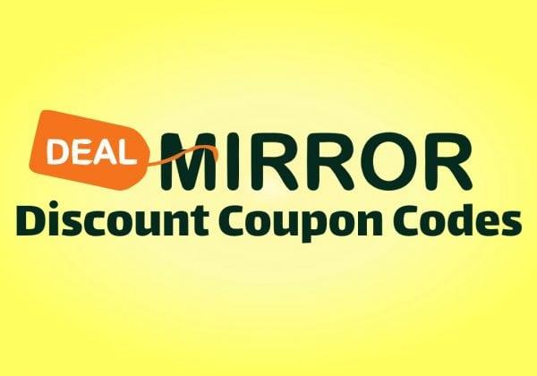 DealMirror coupon codes discount offer